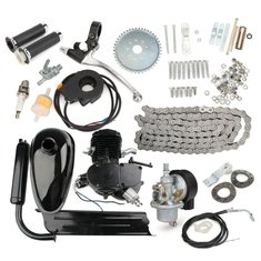 80cc 2-Stroke Cycle Motorized Bike Black Body Engine Motor Kit
