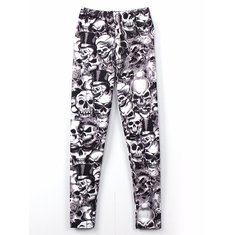 Zanzea European American Star Skull Kito Graffiti Printed Leggings