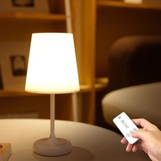 Modern Remote Control Bedroom LED Table Lamp Touch Control 3 Gear Dimming Decor