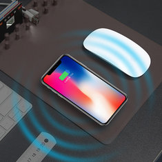 Bakeey Qi Wireless Desktop Storage Charger Mouse Pad for iPhone X 8 Plus Samsung S8 Plus