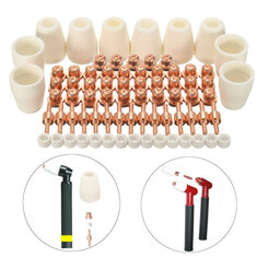 75pcs Plasma Cutter Accessories For LG-40 PT-31 Plasma Cutting Torch CUT40 CUT50
