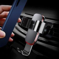 BaseusМеталлическаятягово-сцепнаясистемаАвтоЗамок Авто Подставка для крепления воздухозаборника для Samsung S9 Мобильный телефон