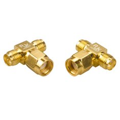 2PCS RJX Hobby RJX2255 RPSMA Male Plug To Dual RPSMA Female T-type RF Coaxial Adapter Connector