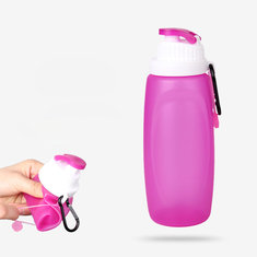 Outdoor Silicone Folding Bottle Cup Camping Hiking Travel Folding Water Bottle Kettle