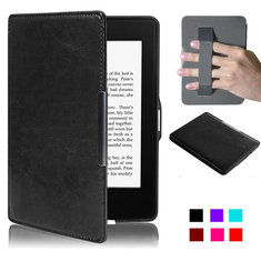 Slim PU Leather Magnet Smart Case Cover Strap For Kindle Paperwhite 1/2/3