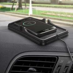 Non-slip Qi Wireless Car Charger GPS Holder Pad for Samsung S8 S8 Plus