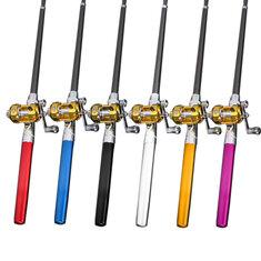 ZANLURE PFS-02 Mini Telescopic Portable Pocket Pen Shape Aluminum Alloy Fishing Rod Reel Line Combos
