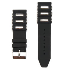 Silicone Rubber Diver Watch Band Strap For Invicta Excursion 18202 Black