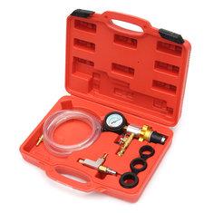 Auto Car Radiator Coolant Vacuum Cooling System Refill & Purging Tool Gauge Kit