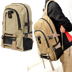 Outdoor Camping Traveling Hiking Backpack Rucksack Canvas Bag
