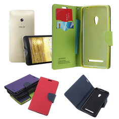 Dual Color Card Slots Wallet Leather Case Cover For ASUS Zenfone 5