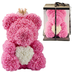 Teddy Bear Rose Bear 38CM Romantic Red and Pink Valentine's Day Wedding Gifts Decorations