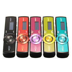 LCD Screen USB Mp3 Music Player FM Radio Support 16GB Micro SD TF Card with Earphone
