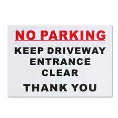 297x210mm No Parking Sticker Keep Driveway Entrance Clear Park Car Warning Sign