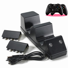 For Xbox One Controller Double Charging Cradle with 2x Rechargeable Battery Pack