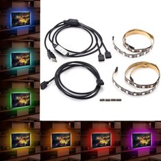 2PCS 50cm 5050 RGB USB LED Strip Light Bar TV Background Lighting Non-waterproof DC5V