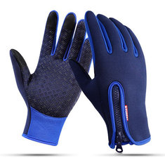 Touch Screen Windproof Waterproof Unisex Winter Warm Skiing Gloves Full Finger Motorcycle Bicycle
