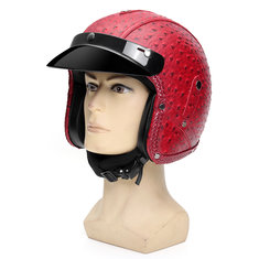 DOT 3/4 Face Motorcycle Motorbike Helmet Scooter Riding Protection Visor M L XL