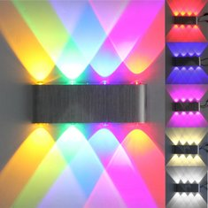 Modern 8W 8 LED Wall Stair Light Up Down Sconce Lamp Home Indoor 110-240V