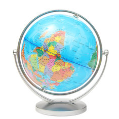 World Globe Earth Ocean Atlas Map With Rotating Stand Geography Educational
