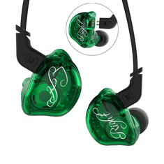 KZ ZSR Plus HiFi Six Drivers 2BA+DD Earphone Dual Balanced Armature Dynamic Hybrid Bass Headphone