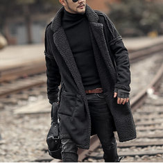 bae35cfaecd67 Men s Plus Size Wool Blend Double Side Wearable Thicken Coat
