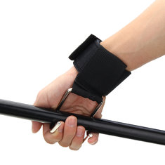 Professional Weight Strap Glove Hook Metal+Polyester Fiber Gloves Wrist Support Straps Tools