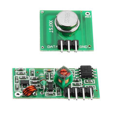 5Pcs 433Mhz Wireless RF Transmitter and Receiver Module Kit For Arduino MCU