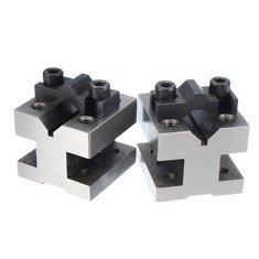 V Block Clamp Set V Block Matched Pair 7/16 to 13/16 90 Degree Precision Machine