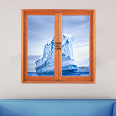 Iceberg 3D Artificial Window View 3D Wall Decals Frigid Barrier PAG Stickers Home Wall Decor Gift