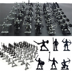 60PCS Sliver Black Mixing Static Model Toys For Kids Children Gift