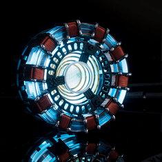 MK1 Acrylic Tony DIY Arc Reactor Lamp Arcylic Kit Illuminant LED Flash Light Set