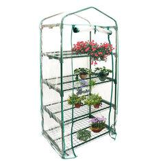 69×49×160cm Garden Green House Mini Portable Outdoor Warm Greenhouse Cover Flower Plants Gardening