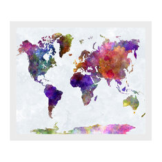 50x35cm Retro World Map Canvas Painting Print Wall Paper Picture Home Decor Unframed