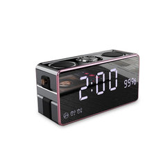 SOAIY S18 LED Alarm Clock Time Display with Wireless Bluetooth Speaker Stereo FM/ Micro TF Card USB/ AUX Input 2000mAh Battery Speaker
