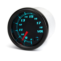 12V Universal 2 Inch 52mm Auto Voltmeter 7 Color LED Display Tinted Face