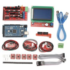 Geekcreit® 3D Printer Kit For Arduino Reprap RAMPS 1.4 Mega2560 A4988 Drive LCD12864 Display Endstop Switch
