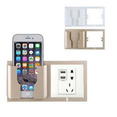 b9a70f8a5c multifunctional wall socket mobile phone stand wall charging holder bracket  for phone under 6 inches Sale - Banggood.com