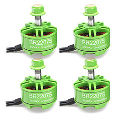 4X Racerstar 2207 BR2207S Green Edition 2500KV 3-6S Brushless Motor For RC Drone FPV Racing Frame