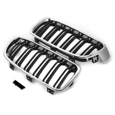 Pair M3 Look Front Grill Kidney Grille For BMW 3-Series Type F30 Sedan and F31 Touring
