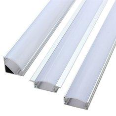 LUSTREON 50CM Aluminum Channel Holder For LED Strip Light Bar Under Cabinet Lamp