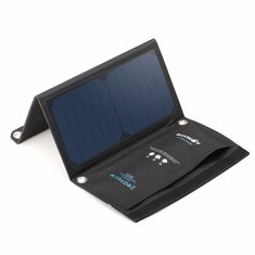 BlitzWolf® 15W 2A Foldable Portable Dual Usb Sun Power Solar Cell Panel Charger with Power3S