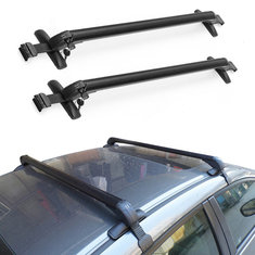 Aluminum Car Top Luggage Roof Rack Cross Bar Carrier Adjustable Anti-theft Window Frame 110-115 cm