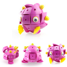 Parcae NS004 90PCS Magnetic Magic Wisdom Ball Black Pink Pig Blocks Various DeformationToys