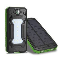 Led Light Dual-usb Portable External Battery Large Assortment Cellphones & Telecommunications Solar Power Bank 10000mah Multifunction Solar Charger Waterproof And Fallproof Battery Charger Cases