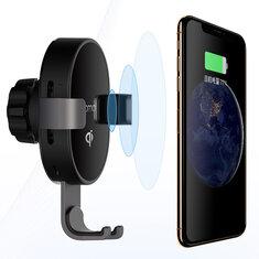 XIAOMI70maiQIСертификацияАвтоДержатель телефона 10W Быстрое беспроводное зарядное устройство для iPhone Xiaomi Huawei