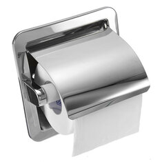 Recessed Toilet Paper Roll Holder Tissue Brushed Nickel Loaded Stand