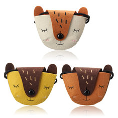 Small Children Kids Shoulder Handbag Crossbody Satchel Cute Fox Gift Messenger Casual Coin Money Purse Tote