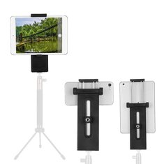 Black Tripod Mount Vertical Bracket Holder Stand Clip Clipper For Tablet Moblie Phone