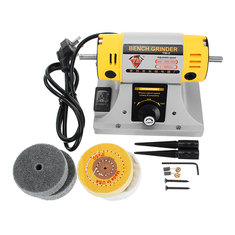 TM® 220V Adjustable Speed Mini Polishing Machine For Dental Jewelry Motor Lathe Bench Grinder Kit
